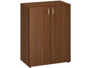 Kancelářská skříň CLASSIC, 800 x 470 x 1063 mm, ořech