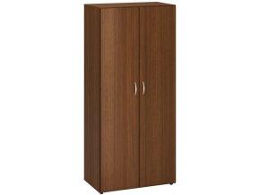Kancelářská skříň CLASSIC se čtyřmi policemi, 800 x 470 x 1780 mm, ořech