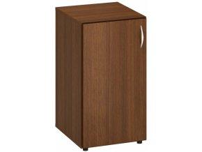 Nízká kancelářská skříňka CLASSIC - dveře levé, 1 police, 400 x 470 x 735 mm, ořech