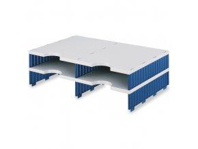 Třídící moduly, 4 přidavné přihrádky, modrá