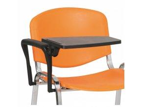 Sklopný plastový stolek s područkou pro konferenční židle SMART, ISO, VIVA, SMILE