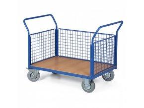 Plošinový vozík - 3 drátěné výplně, 1000x700 mm, 200 kg