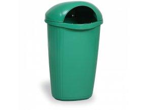 Venkovní odpadkový koš na sloupek DINOVA, světle zelený