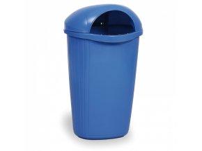 Venkovní odpadkový koš na sloupek DINOVA, modrý