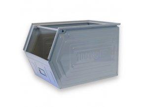Kovové bedna - zkosená, 600 x 400 x 400 mm
