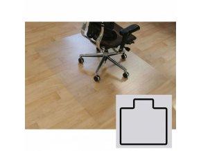 Podložka pod židli na hladké podlahy - Polykarbonát, tvar T, 1500 x 1200 mm