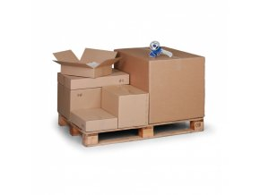 Kartonová krabice s klopami, 400x300x300 mm, 5-vrstvá lepenka, balení 25 ks
