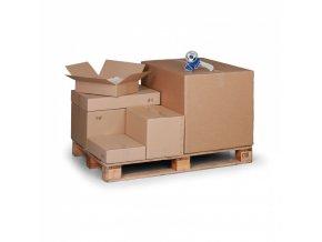 Kartonová krabice s klopami, 400x400x400 mm, 5-vrstvá lepenka, balení 25 ks