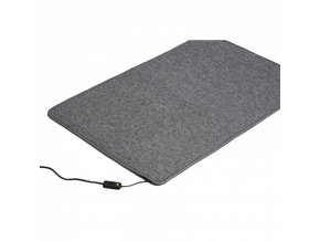 Topný koberec, 60 x 40 cm, šedý