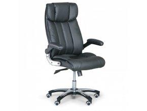 Kožené kancelářské křeslo COMBI XL, černá