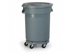 Průmyslová nádoba na odpad s víkem, 120 litrů