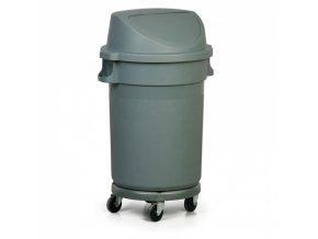 Průmyslová nádoba na odpad s výklopným víkem, 80 litrů