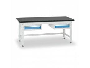 Dílenský stůl BL se 2 jednozásuvkovými kontejnery, 1800 mm