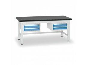 Dílenský stůl BL se 2 dvouzásuvkovými kontejnery, 1800 mm