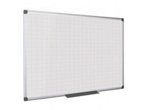 Bílá magnetická popisovací tabule s potiskem, čtverce/rastr 120x90 cm