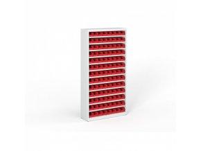 Regál s plastovými boxy - 1800 x 920 x 400 mm, 104x box A
