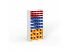 Regál s plastovými boxy - 1800 x 920 x 400 mm, 24xA,24xB,12xC