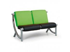 Kožená sedací souprava JAZZY II 2-místná, zelená/černá
