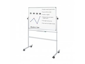 Mobilní oboustranná magnetická tabule, 150x120 cm