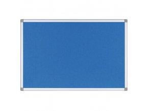 Textilní nástěnka, modrá, 900x600 mm