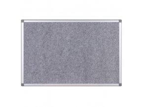 Textilní nástěnka v hliníkovém rámu, 1200x900 mm, šedá