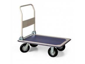 Skládací plošinový vozík s dušovými koly