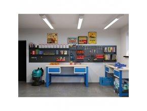Dílenský stůl KOVO s pevným podnožím, 2100 mm