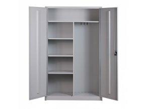 Víceúčelová plechová skříň, 1950x1200x500 mm, šedá