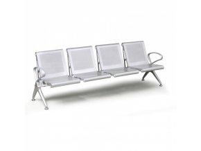 Kovová lavice do čekáren STRONG PLUS, 4 místa