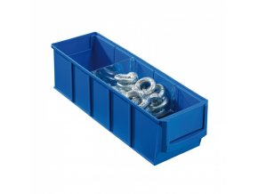 Plastový regálový box ShelfBox, 91 x 300 x 81 mm, modrý
