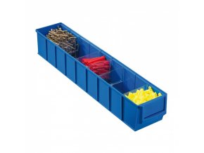 Plastový regálový box ShelfBox, 91 x 500 x 81 mm, modrý