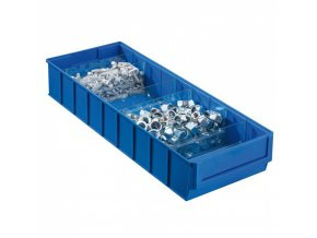 Plastový regálový box ShelfBox, 183 x 500 x 81 mm, modrý