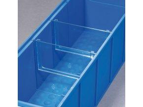 Děliče pro plastové boxy ShelfBox, 175 mm, 4 ks