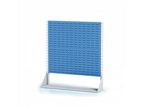 Perforované stojany s panely na boxy, 2 patra, základní pole
