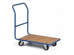 Plošinový vozík LIGHT, plošina 830x530 mm, kola s šedou pryží