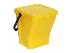Plastové odpadkové koše ECOTOP II, žlutý