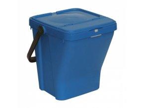 Plastové odpadkové koše ECOTOP II, modrá