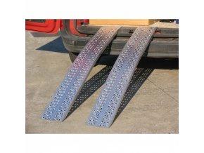 Nájezdová rampa HOBBY zahnutá, pár, délka 1485 x šířka 300 mm, 640 kg