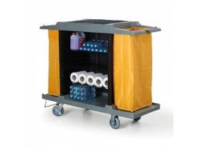 Úklidový servisní vozík s pytly na odpadky