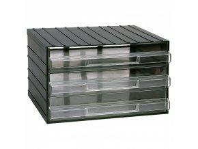 Modulová skříňka se zásuvkami, 382 x 290 x 230 mm, 3 zásuvky
