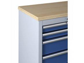 Pracovní deska dřevěná (3x skříňka)