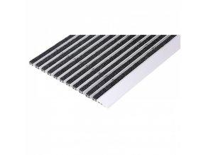 Čistící rohož s náběhovou hranou, hliník, PP koberec