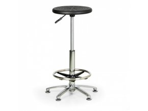 Pracovní stolička PUR, vysoká, kulatý sedák