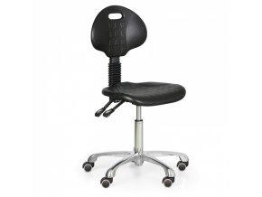 Pracovní židle PUR, bez područek, kovový kříž