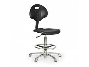 Pracovní židle PUR, vysoká, kovový kříž