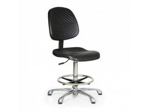 Pracovní židle PUR Classic, vysoká, kovový kříž