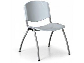 Plastová jídelní židle LIVORNO PLASTIC, šedá
