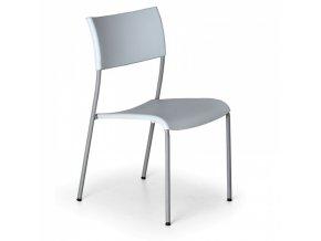 Plastová jídelní židle FOREVER, šedá