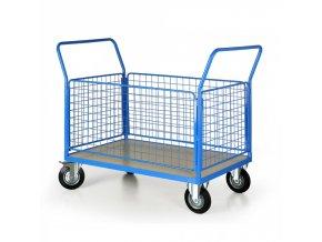 Plošinový vozík se 4 drátěnými stěnami, 1200x800 mm
