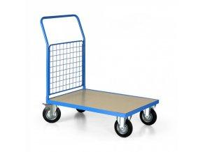 Plošinový vozík s mřížkovaným madlem, 1000x700 mm